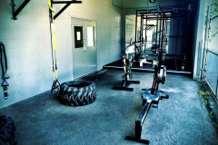 Outdoor workout area