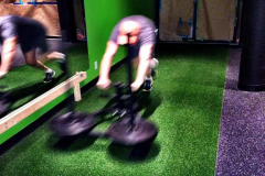 Rep1 Fitness sled push for cardio